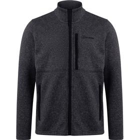Berghaus Vallen InterActive Bluza polarowa Mężczyźni, jet black/grey pinstripe